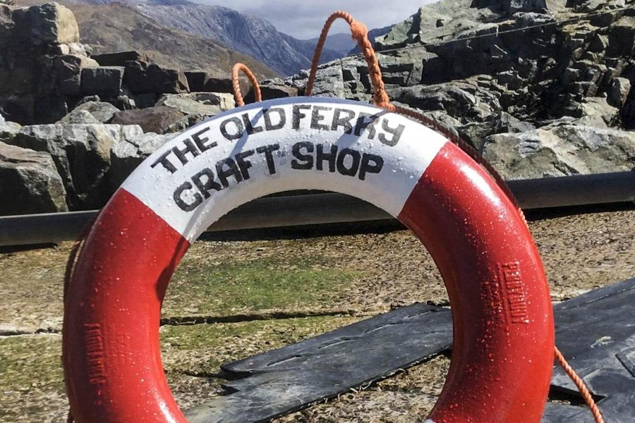 Life Ring at the Old Ferry Craft Shop, Kylesku skipway