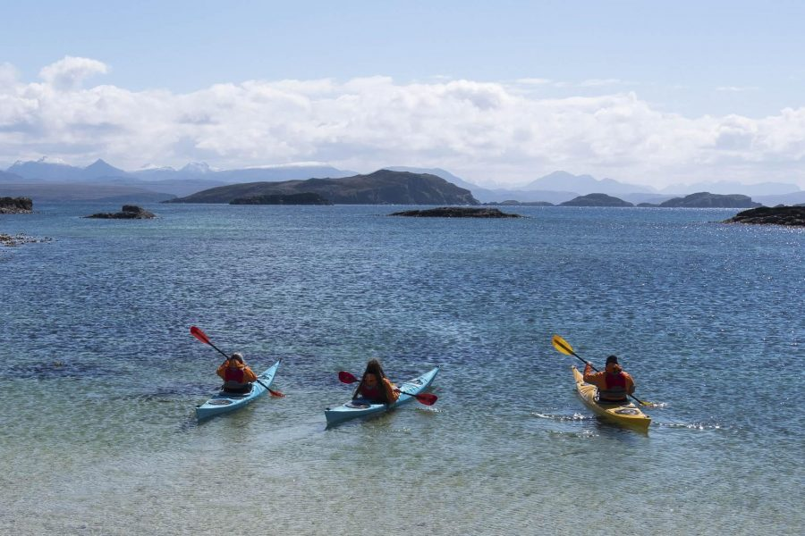 Sea kayaking on the west coast of Scotland with Tim Hamlet.