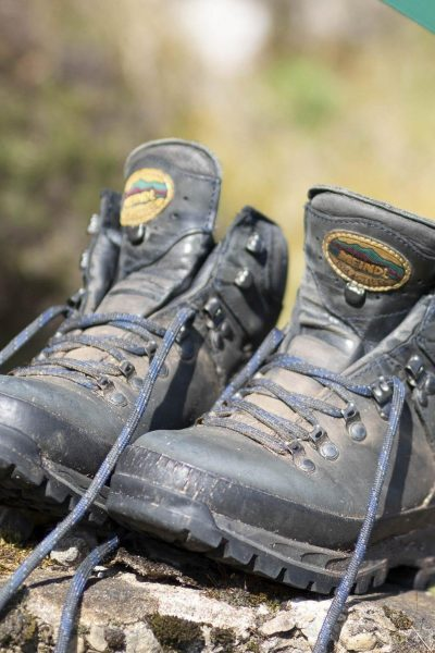 Walking boots in Assynt, Scotland