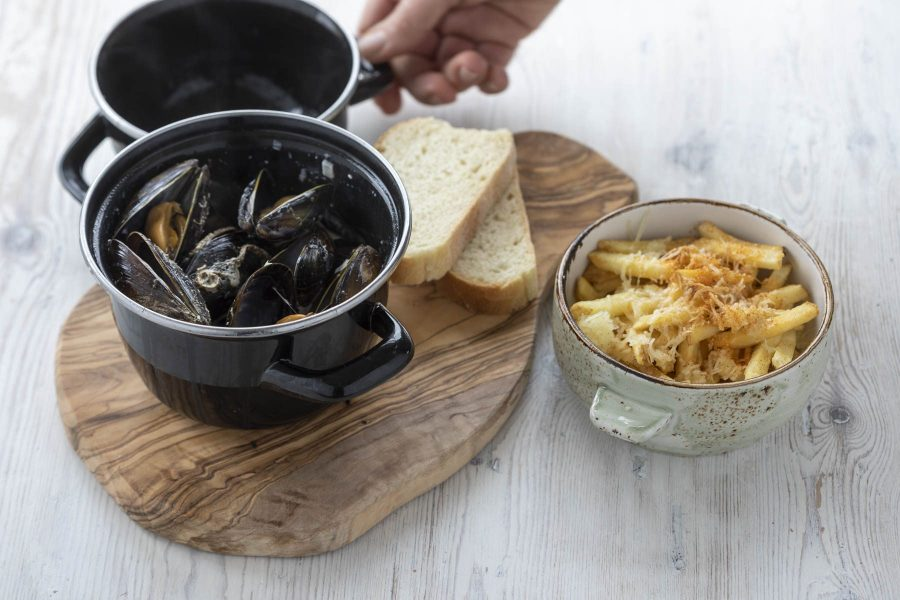 Local mussels at Kylesku Hotel, Scotland