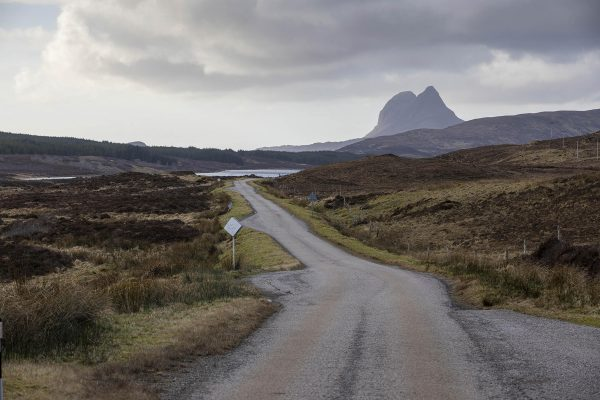 Suilven from the road, North West Scotland