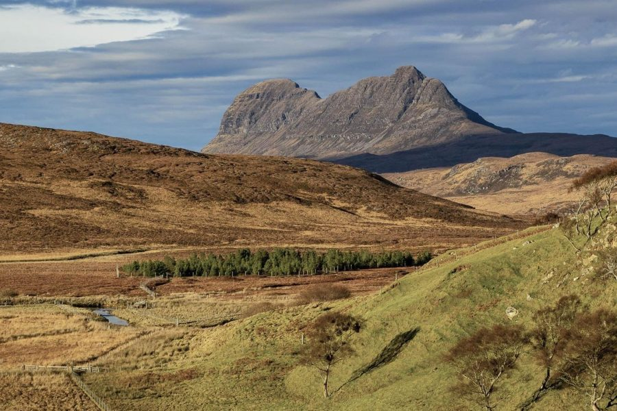 View of Suilven, mountain in Assynt