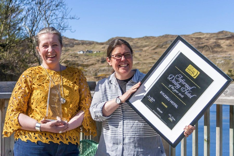 Tanja Lister and Sonia Virechauveix, award-winning hoteliers and restauranteurs, Scotland