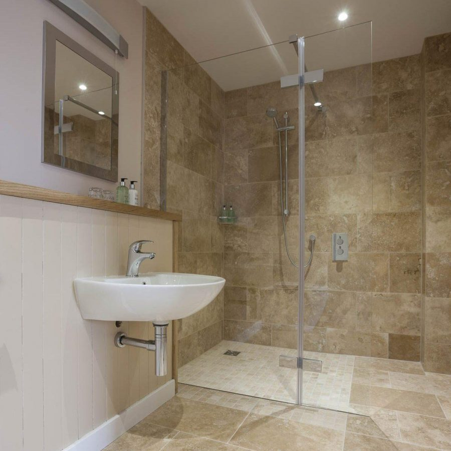 Room 8 fully accessible, wet-room type shower room  Hotel Helen Lucas Architects 4 Y7 Z4418 Photograph by Angus Bremner